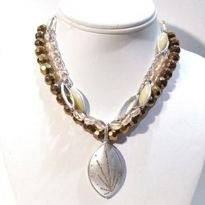 Sigrid Olsen three strands necklace.